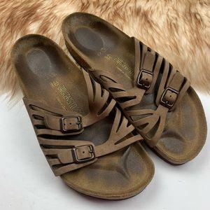 Birkenstock Granada Sandals Size 9 Women's Tan 40